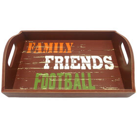 Family Friends Football Tray - 14-inch