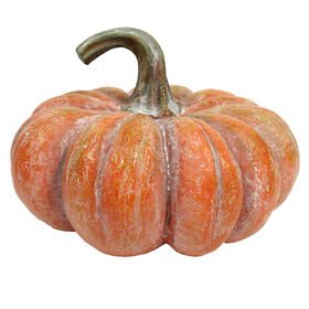 Whitewash Orange Pumpkin 6-inch