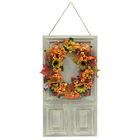 Wood Door Plaque Sunflower - 20-inch