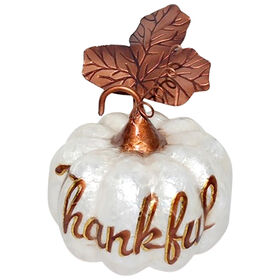 Thankful Capiz Pumpkin - 5-inch