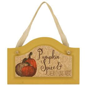 Hanging Pumpkin Spice Door Sign