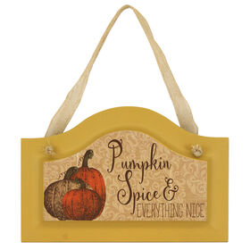 Hanging Pumpkin Spice Door Sign