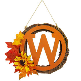 Monogram W Wreath - 14-inch