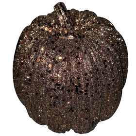 Brown Metallic Pumpkin - 6-inch