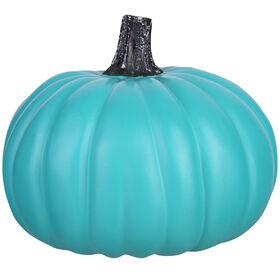 Turquoise Craft Pumpkin - 9-inch
