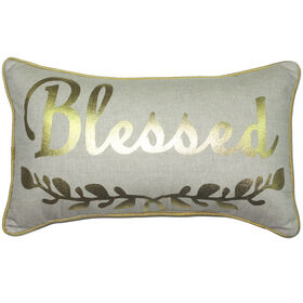 Gold Blessed Pillow 12-inch x 20-inch