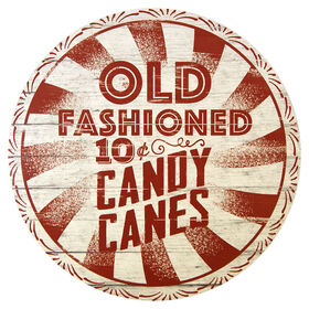 Old Fashioned Candy Cane Sign