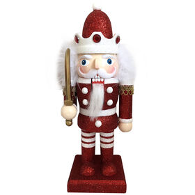 9in Glitter Red Nutcracker