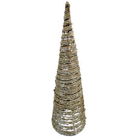 29in Tan Glittered Cone Tree
