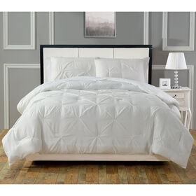 Pintuck Comforter Set - White